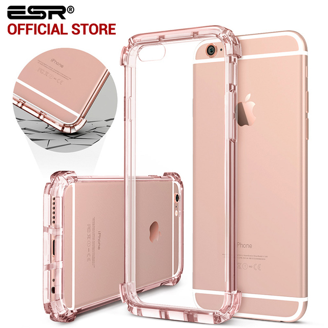 38d6febe36 Strong Bumper for iPhone 6 Plus , ESR One Piece Hybrid Case Hard Clear Back  Soft