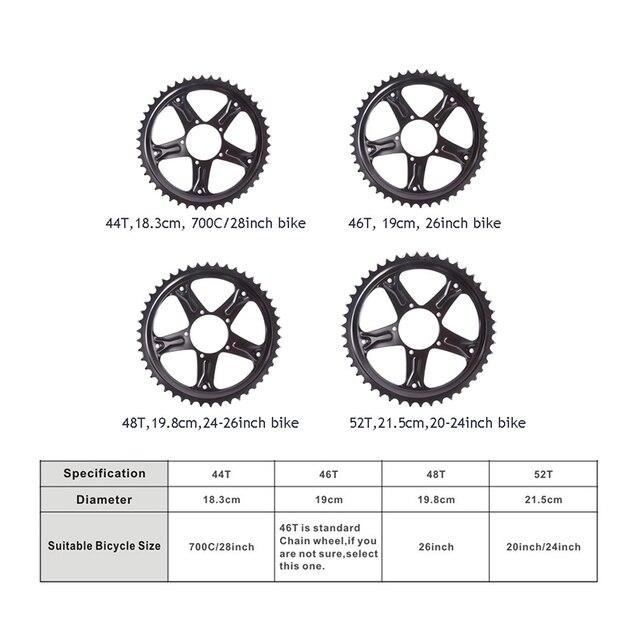 36V500W Bafang mid drive motor electric bike ebike conversion kit 8fun BBS02 brushless motor bicycle engine kit