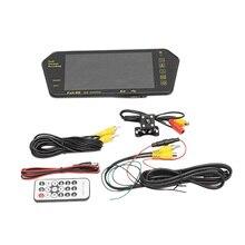 Автомобиль 7 дюймов Bluetooth Tft Lcd цветное зеркало Mp5 плеер Viedo монитор дисплей заднего вида зеркало заднего вида вспомогательное