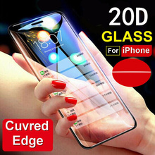 20D Full Cover Tempered Film For IPhone X XS MAX XR 8 7 6 Plus Glass Screen Protector iphone 6s plus