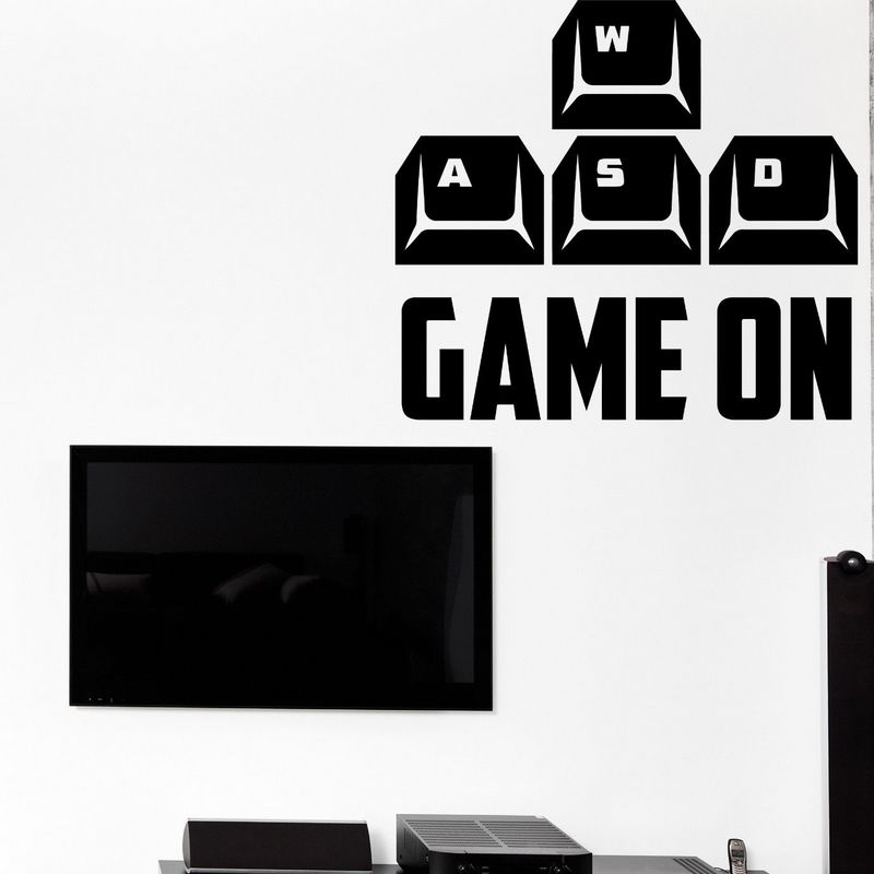 Game Room Sticker Gamer Decal Gaming Posters Gamer Vinyl Muurstickers Decor Video Game Sticker