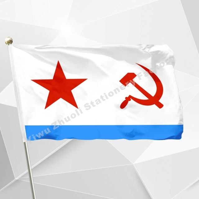 US $4 74 |USSR Soviet Navy Flag Naval Ensign Soviet Union 1950 flag Russia  Flags And Banners For Victory Day / Home Decoration /-in Flags, Banners &