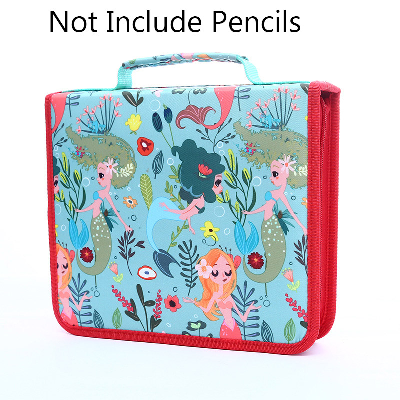 Image 2 - School Pencil Case 120/168/216 Holes Pencilcase Profession Pen Box Penal for Kid Colourful Art Bag Large Storage Pouch Penalties-in Pencil Cases from Office & School Supplies