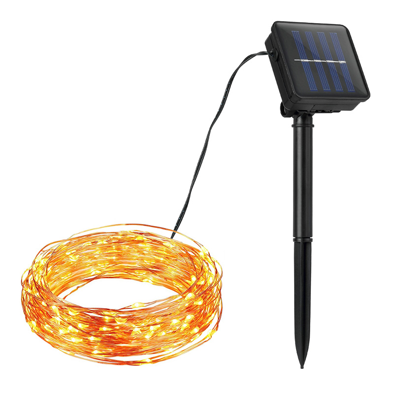 10M 20M Copper Wire Solar LED String lamp Fairy Holiday light Strip Decor Garden Lawn Wedding Christmas Party Ambiance light #35