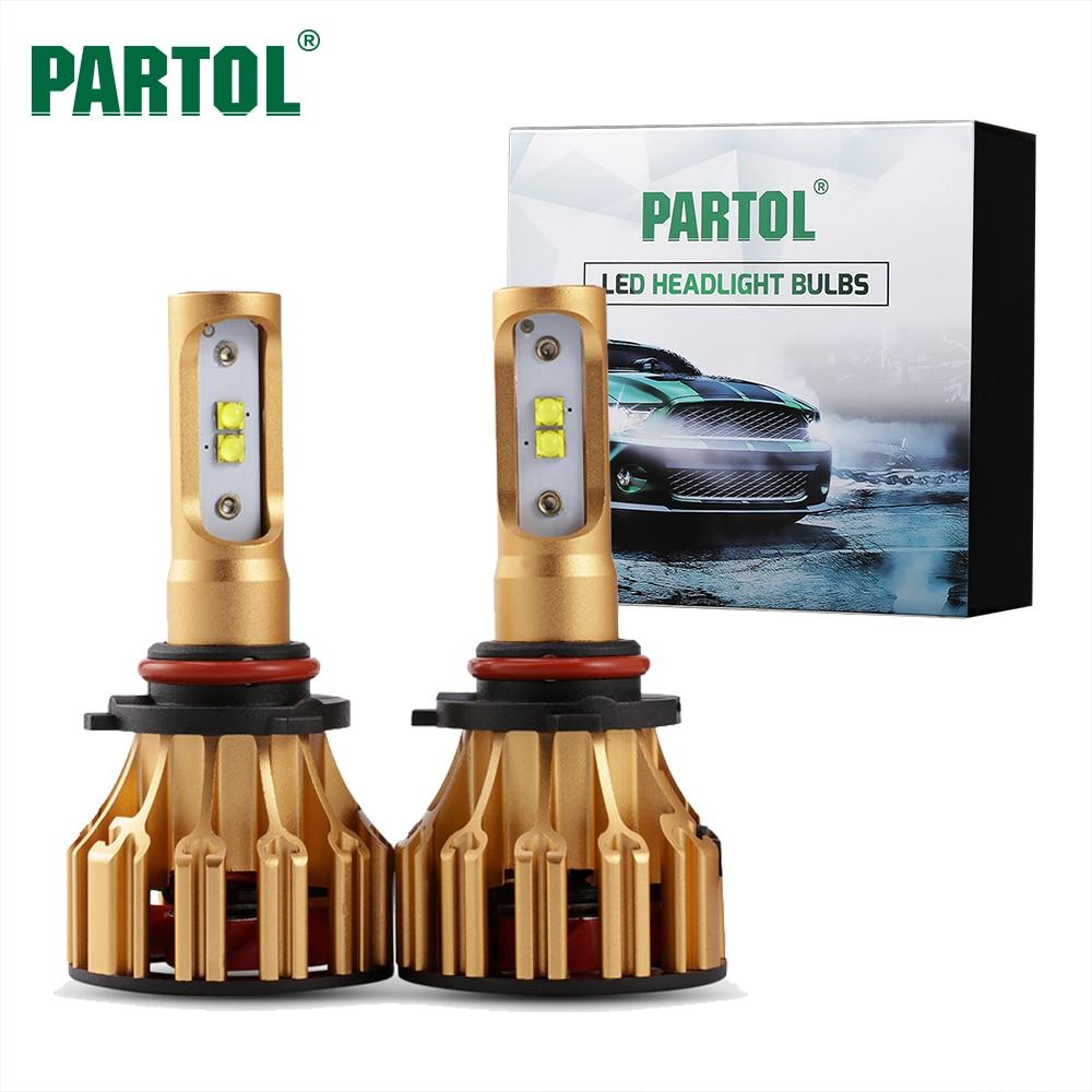 Partol Car Headlight kit H4 H7 LED Bulbs H11 9005 HB3 9006 HB4 H13 LED Headlamp