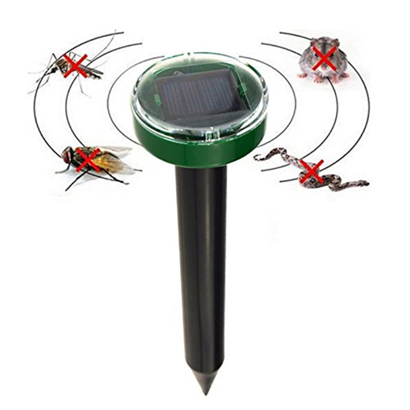 Outdoor Garden Mole Repeller Solar Power Ultrasonic Snake Bird Anti Mosquito Killer Mouse Ultrasonic Pest Repellent Control Yard