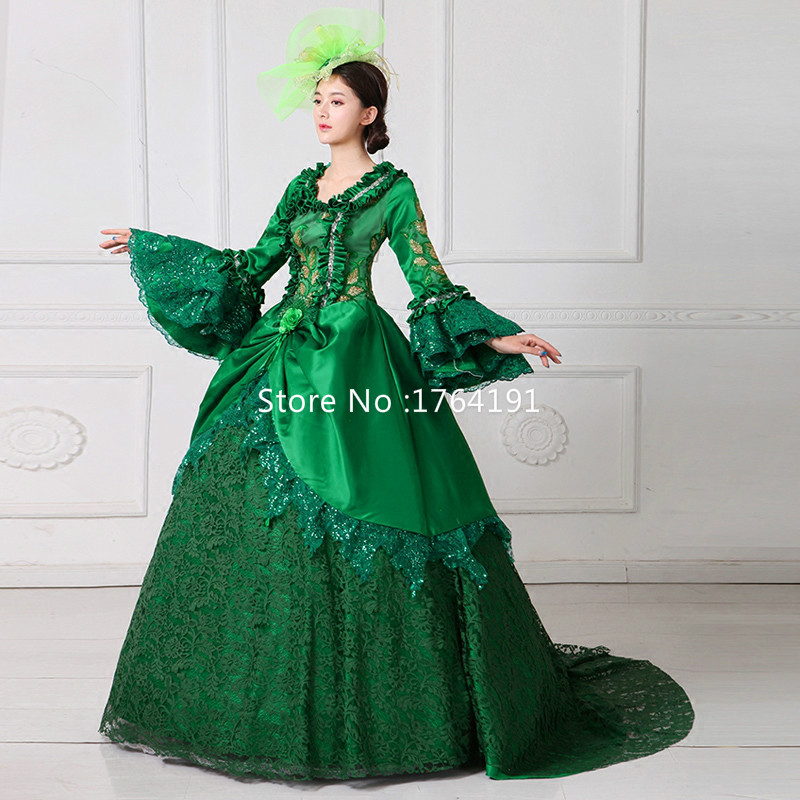 Train as Noël Picture rouge De As Cour Marie 2018 Mascarade parole Col Chaude Robe Vert Longueur Vente Picture Carré Antoinette fY7gyb6