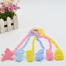 2Pcs High Quality Baby Care Pacifier Clip Baby Feeding Product Animal Cartoon Baby Pacifier Anti Lost Chain Accessories