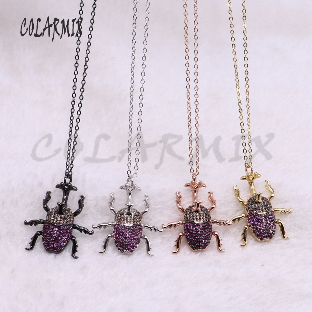 5 strands insectsbugs necklace bees necklace for lady bugs pendants small size jewelry 18 mix color necklace pets beads 3750
