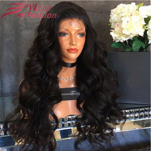 Full thick density full lace wig  lace front wigs 180% density natural wave brazilian virgin hair wig natural hairline lace wigs