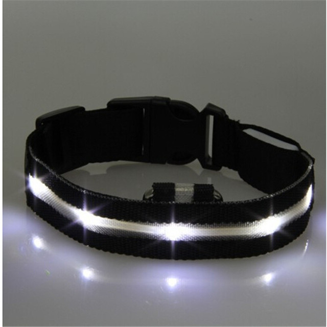 High Quality Pet LED Dog Collar Night Safety LED Flashing Glow LED Pet Supplies Dog Cat Collar Small Dogs Collars For Puppy 3