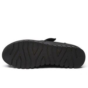 Image 3 - Drkanol moda couro genuíno dedo do pé redondo mulheres botas de neve inverno botas de tornozelo plana sapatos de algodão de pelúcia quente botte femme