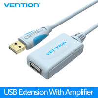 Vention USB 2.0 Extension Cable With Amplifier Booster 5m 10m 15FT USB 2.0 Male to Female Extension Cord For Card reader Devices