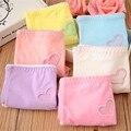 Hot 2 pçs/lote oco bordados de algodão mulheres underwear bonito dos desenhos animados das meninas shorts briefs crianças comfort calcinhas roupas infantis