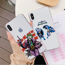 DC comics evil Joker VS justice Batman Case For iPhone X XS XR XSMAX 6 6S 7 8 Plus 5 5s SE Soft silicone Phone