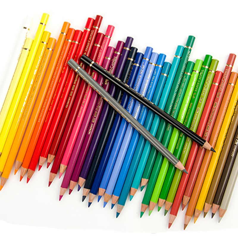 Faber Castell-lápices de colores policromo para artistas, juego de lata de Metal de alta calidad, lápices de colores Pastel profesionales, kit de dibujo