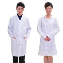 Мужчин/женщин-врачей халате медицинская медицинской белое медицинские одежду скраб блузка длинными рукавами
