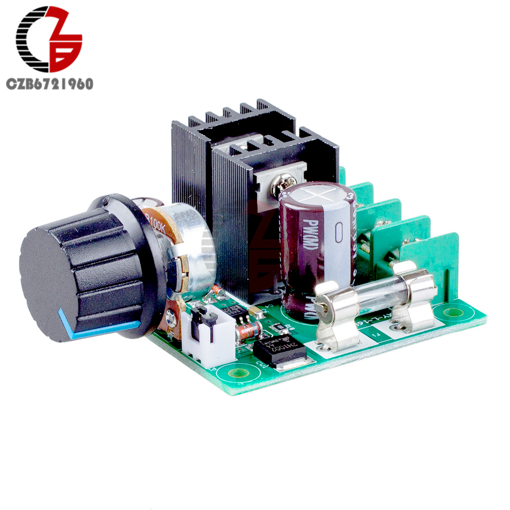 400W 10A DC 12V-40V PWM DC Motor Speed Controller Regulator Fan Speed Control Dimmer Switch Governor Reverse Polarity Protection
