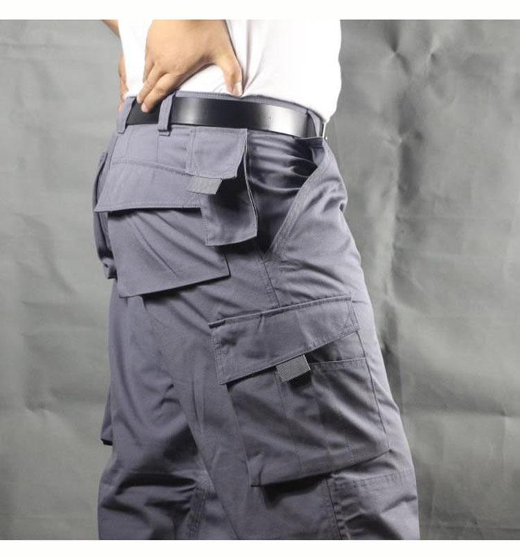 Working pants men multi pockets work cargo pants large size loose style men\'s labor trousers wear-resistance welding repairman (13)