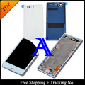 100% Tested Original For Sony Xperia Z3 compact Z3 mini M55W LCD Screen Digitizer Assembly with Frame +Back Cover - White/Black
