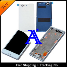 100% Tested Original For Sony Xperia Z3 compact Z3 mini M55W LCD Screen Digitizer Assembly with Frame +Back Cover – White/Black