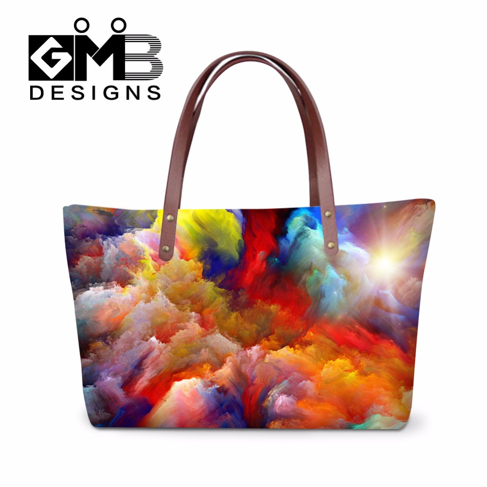 Watercolor Large Tote Handbag For Women Fashionable Shoulder Bags S Lightweight Bag Insert Organizer In From Luggage