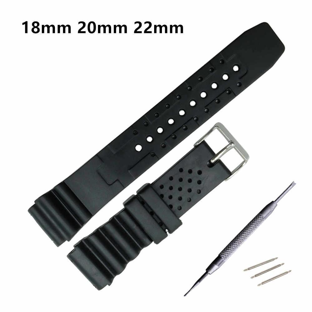 Horlogeband Siliconen Rubber Band Sport Duiken Black Strap CASIO Voor DW Vervangen Elektronische Polshorloge Riem Horloge Accessoires