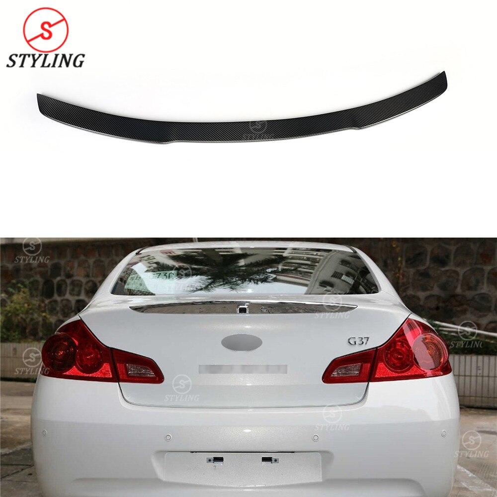 G Series G25 Carbon Fiber Rear Spoiler For Infiniti G37 Sedan Spoiler Rear Trunk Wing 2009 2010 2011 2012 2013 2014