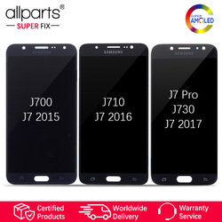 Super AMOLED For SAMSUNG Galaxy J730 LCD Display Touch Screen For SAMSUNG Galaxy J7 2015 J700 / 2016 J710 / J7 Pro J730 J730F #2