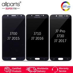 Super AMOLED For SAMSUNG Galaxy J730 LCD Display Touch Screen For SAMSUNG Galaxy J7 2015 J700 / 2016 J710 / J7 Pro J730 J730F