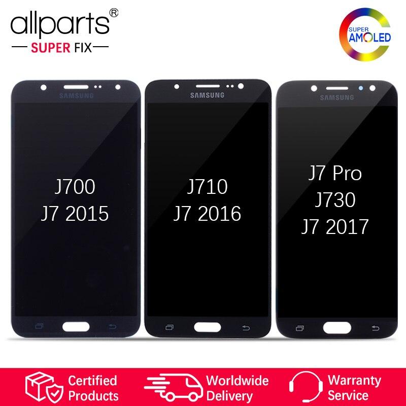 Super AMOLED Pour SAMSUNG Galaxy J730 LCD Affichage à L'écran Tactile Pour SAMSUNG Galaxy J7 2015 J700/2016 J710/ j7 Pro J730 J730F