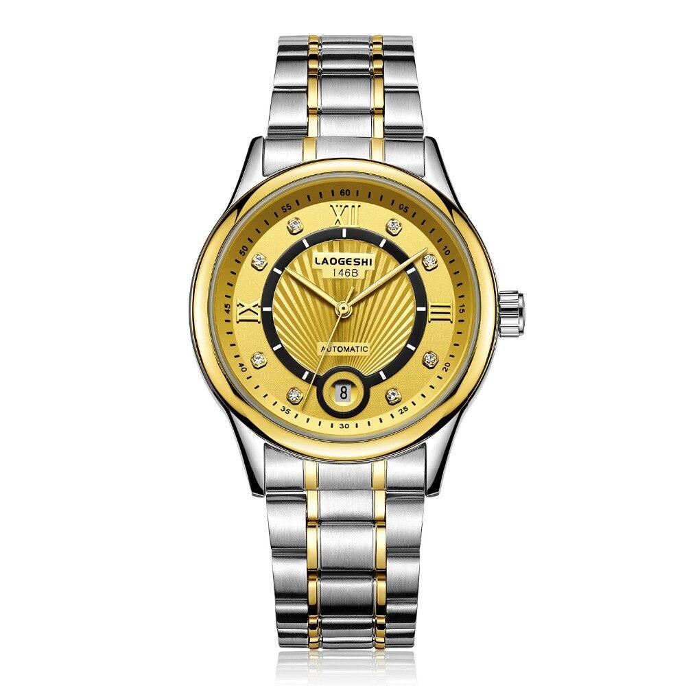 men Watches Women Luxury Auto Date mechanical Watch Bracelet Wrist For Woman Waterproof Stainless diamond clock Relogio Feminino