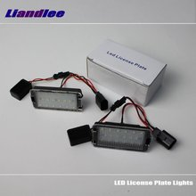 цена на Liandlee For Volkswagen VW Passat CC 2008~2014 / LED Car License Plate Lights / Number Frame Light / High Quality LED Lamp