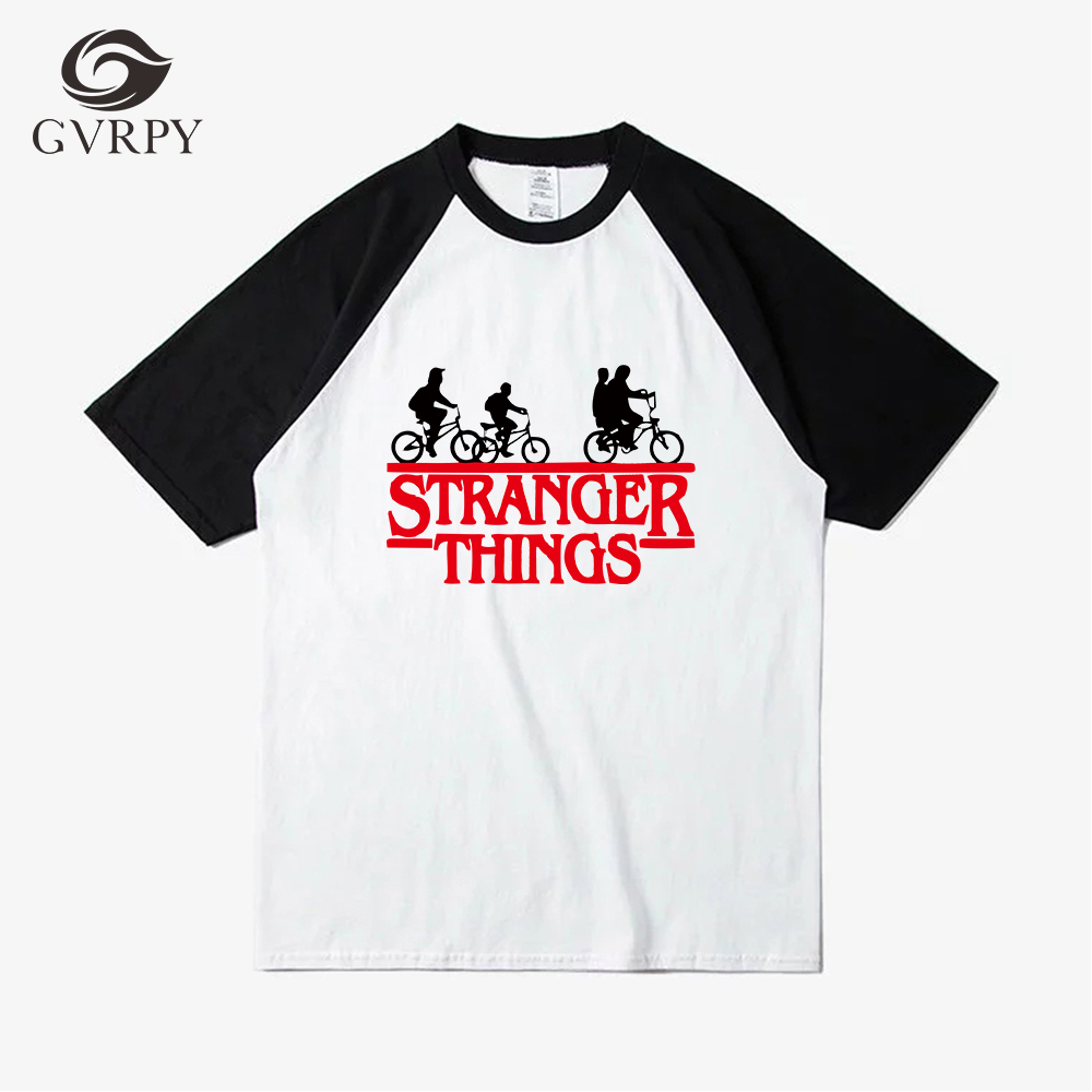 Buy New 2018 Fashion Stranger things Men's T shirt Spliced Color Tops Tees High Quality Harajuku Streetwear Modal T-shirts for Homme for only 11.26 USD