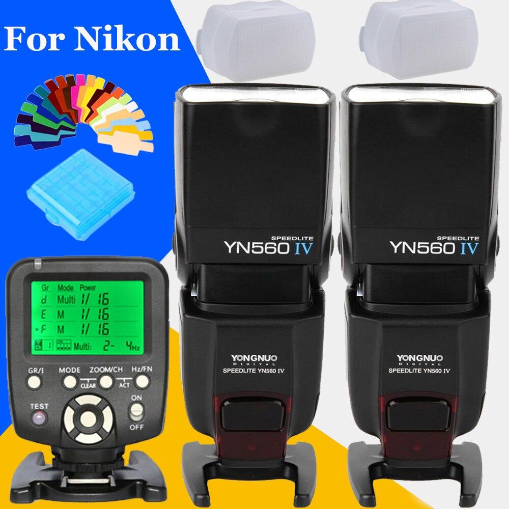 Yongnuo YN-560 IV YN560IV 2.4G Wireless Flash Speedlite FlashLight X2 + YN560-TX YN560TX Flash Trigger For Nikon DSLR Cameras yongnuo yn560 iv professional yn560 iv 2 4ghz speedlite flash light