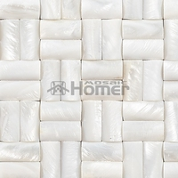 3D Convex Pure White Mother Of Pearl Mosaic Fresh Water Shell Convex Tiles Bathroom Shower Home