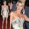 Frete Grátis Personalizado Brilhante Shakira Sweetheart Crystal Stone Frisada Mini Short Vestidos de Celebridades Vestidos Cocktail