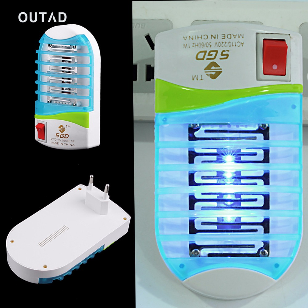 OUTAD LED Socket Mini Mosquito Fly Bug Insect House Fly Trap Night Lamp Killer mosquito Repeller 220V Photocatalyst Home Safe