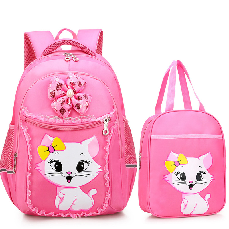 2pcs/set Cute Children School Bags Girls Princess School Bag Primary Cartoon Cat School Backpacks Kids Backpack Mochila Escolar