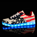 American flag lady Luminous basket Glow bambas flash tenis led trainer neon shoe with light up for adult male Feminino men
