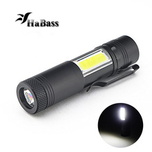 Mini Led COB Flashlight cree q5 Work light Waterproof 4 mode lamp linterna lanterna Torch light  use 14500 or AA battery