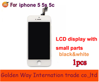 100 High Quality Tested LCD Display Touch Digitizer Full Assembly For Iphone 5 5S 5C Black
