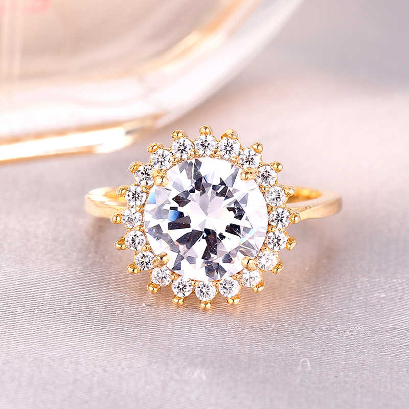 Princess Diana Wedding Ring.Luxury British Kate Princess Diana William Engagement Ring With Real Plate Crystal Wedding Rings For Women