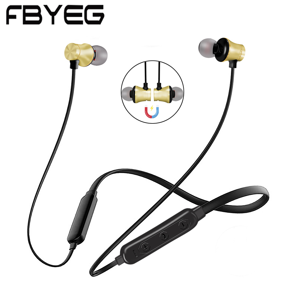 Wireless Earphone Bluetooth Headphones Bluetooth Sport Headset Neckband Bass Sweatproof Stereo Earpiece Build-in Mic For Phones