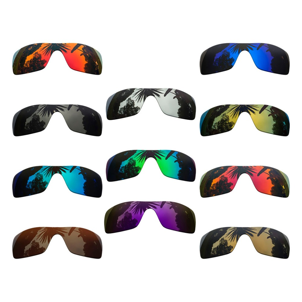 Polarized Mirrored Coating Replacement Lenses For-Oakley Batwolf Frame Multi-Colors