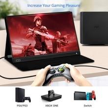 15.6 אינץ LCD צג נייד Ultrathin 1080 P משחקי צג IPS HD USB סוג C Dispaly עבור מחשב נייד טלפון XBOX מתג PS4