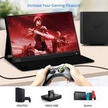 El Monitor LCD de 15,6 pulgadas portátil ultrafino 1080 P Gaming Monitor IPS HD USB tipo C pantalla para teléfono portátil XBOX interruptor y PS4