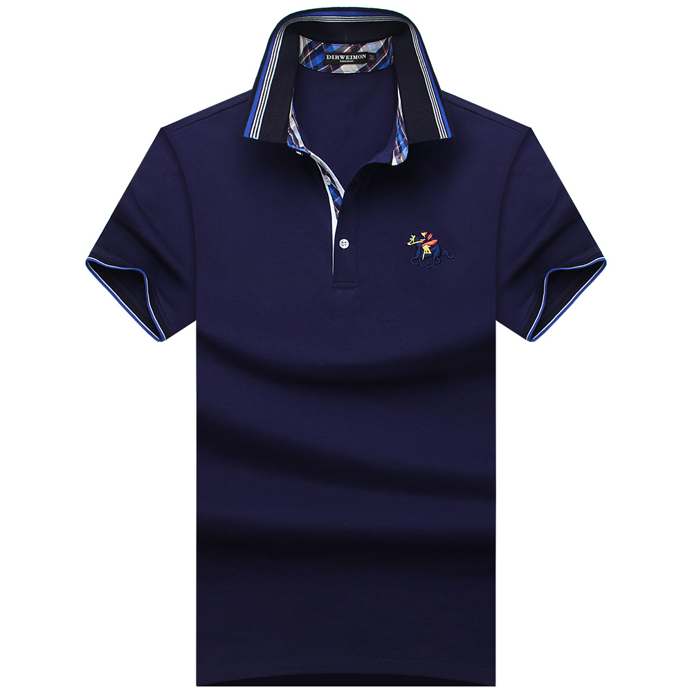 2018 Nya Brand New Match Colors Collar Men POLO Shirts Summer Style - Herrkläder - Foto 1
