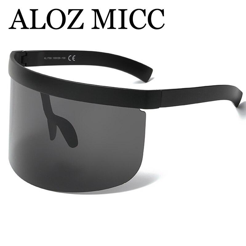 ALOZ MICC Luxury Oversize Shield Visor Sunglassess
