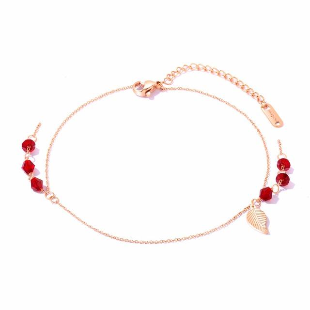 Women Ladies Anklets Bracelet Small Round Charm Fashion Jewelry Simple Design GZ062